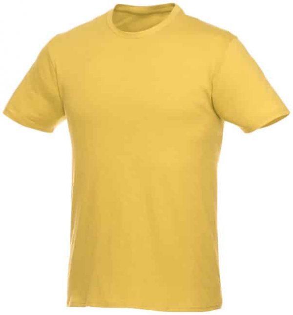 t-paita logopainatuksella keltainen