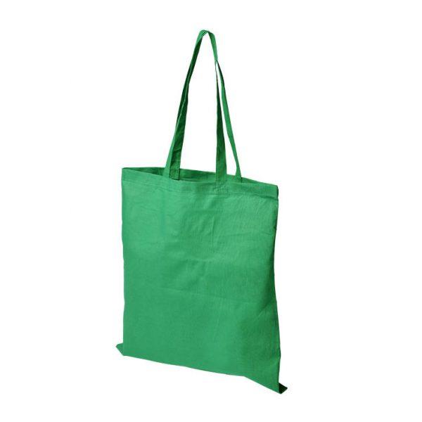 Puuvillakassi logolla vihreä