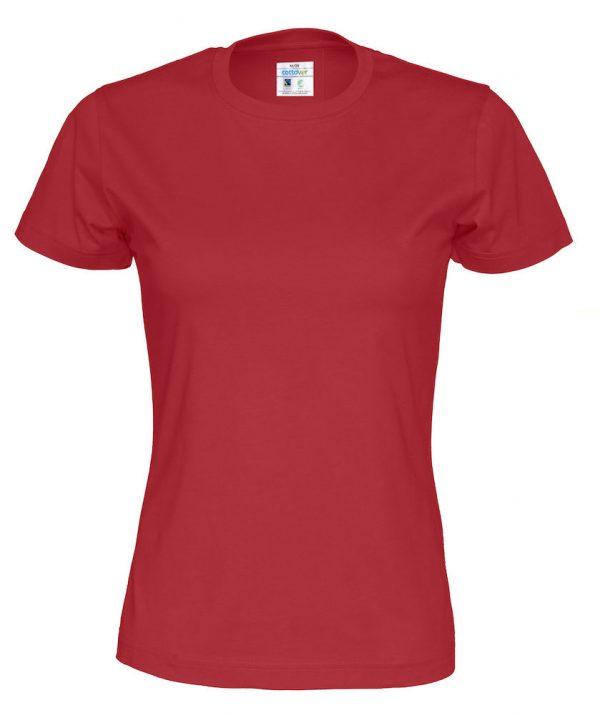 t-paita luomupuuvilla punainen