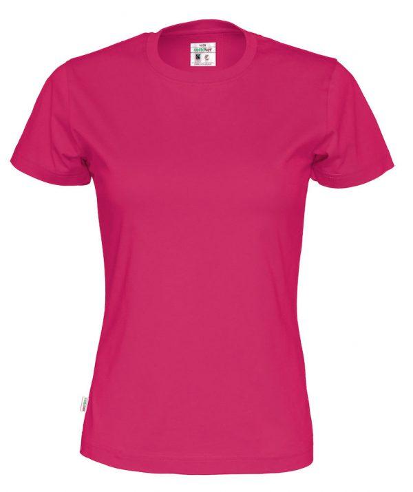 t-paita luomupuuvilla pinkki