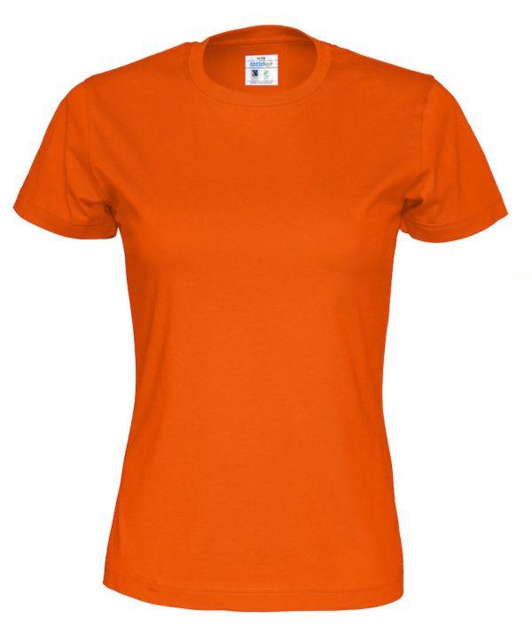 t-paita luomupuuvilla oranssi
