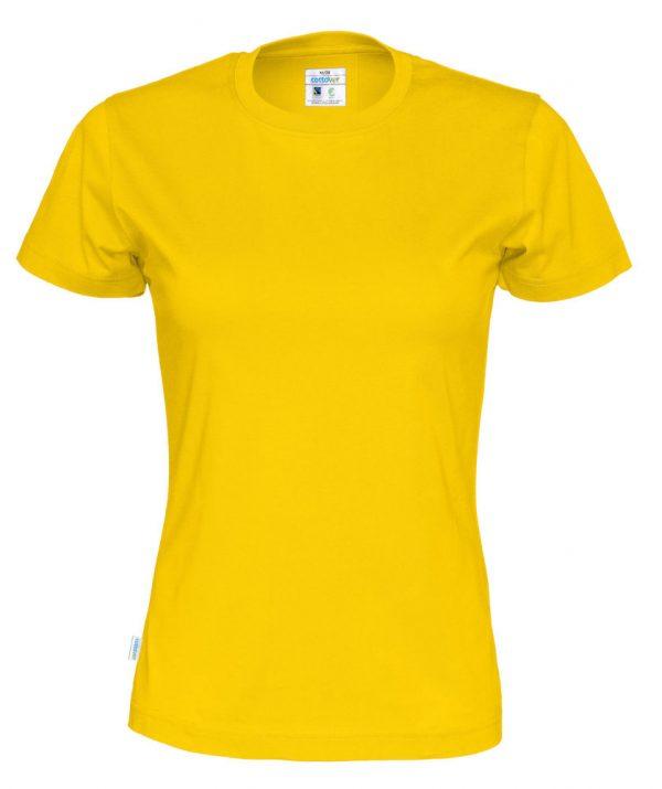 t-paita luomupuuvilla keltainen
