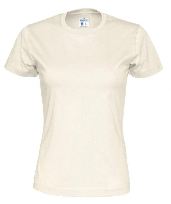 t-paita luomupuuvilla luonnonvalkoinen