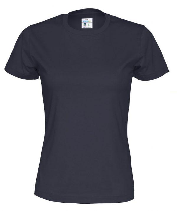 t-paita luomupuuvilla tumman sininen