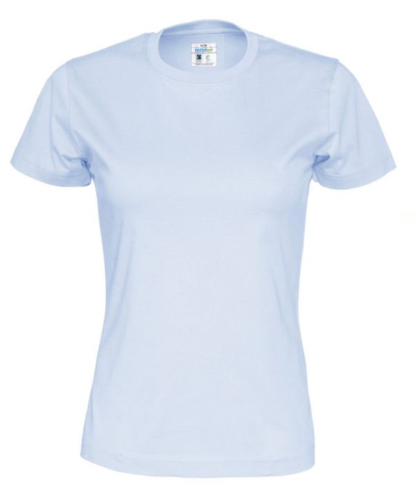t-paita luomupuuvilla vaaleansininen