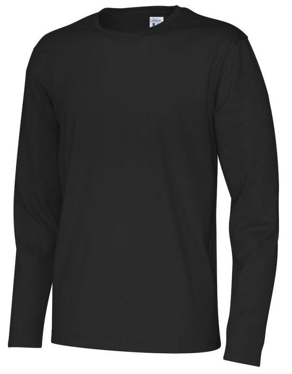 pitkähihainen t-paita luomupuuvillaa musta