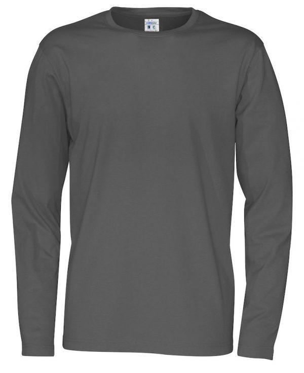 pitkähihainen t-paita luomupuuvillaa harmaa