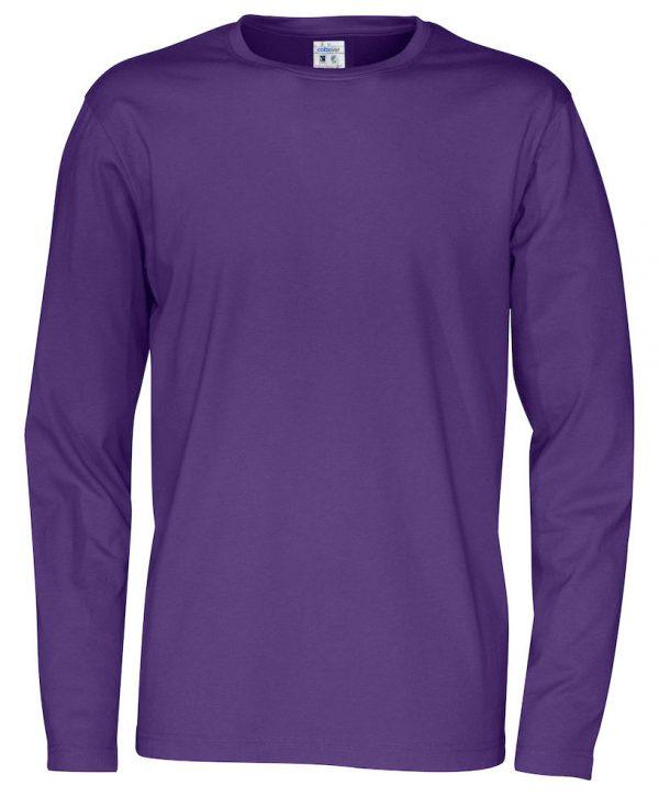 pitkähihainen t-paita luomupuuvillaa violetti