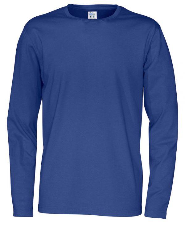 pitkähihainen t-paita luomupuuvillaa sininen