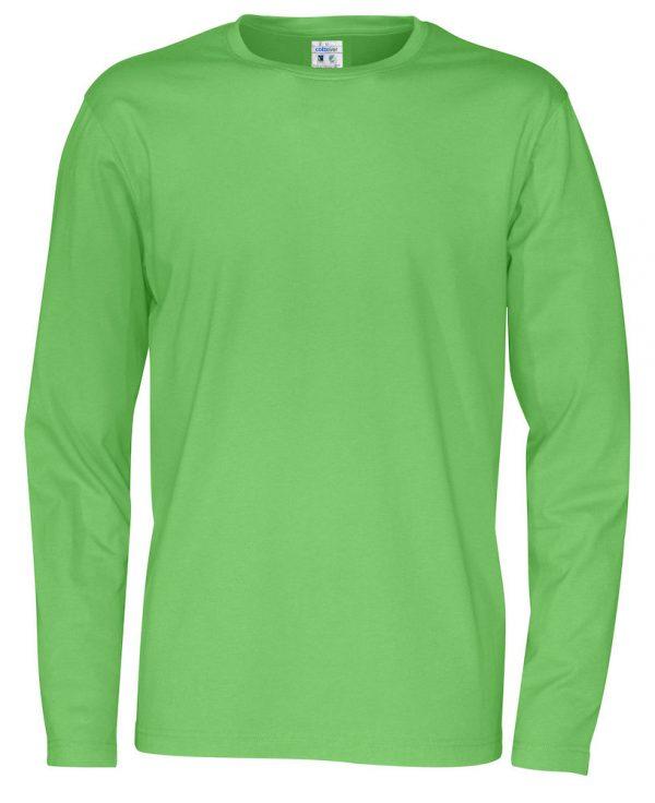 pitkähihainen t-paita luomupuuvillaa vihreä