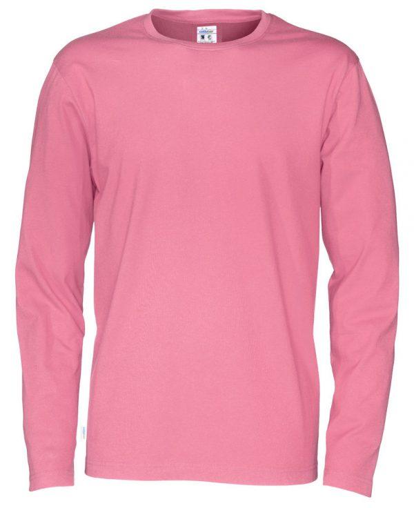 pitkähihainen t-paita luomupuuvillaa pinkki