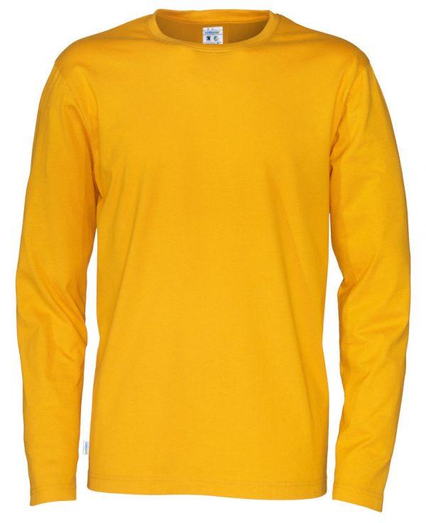 pitkähihainen t-paita luomupuuvillaa keltainen